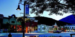 Rossland Winter downtown
