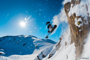 Pete Wurster skis for Warren Miller in the Vail back country