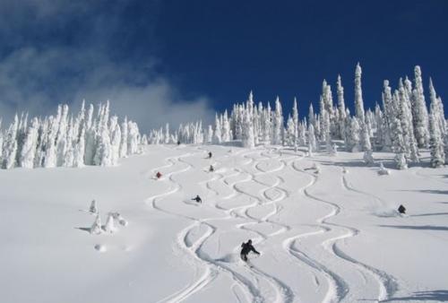 Highland powder skiing
