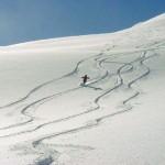 Powder highway skiing