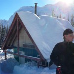 The cabin is located in the Lizard Range near Fernie BC
