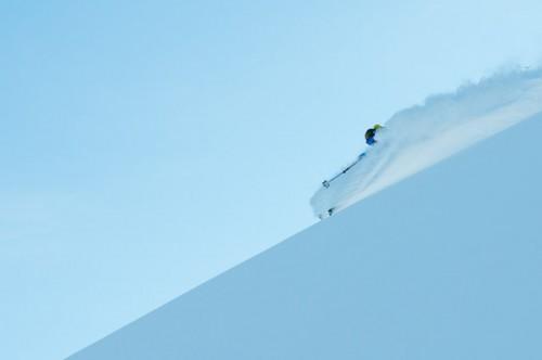 Greg Hill skiing