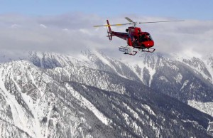 Provincial Avalanche Program helicopter