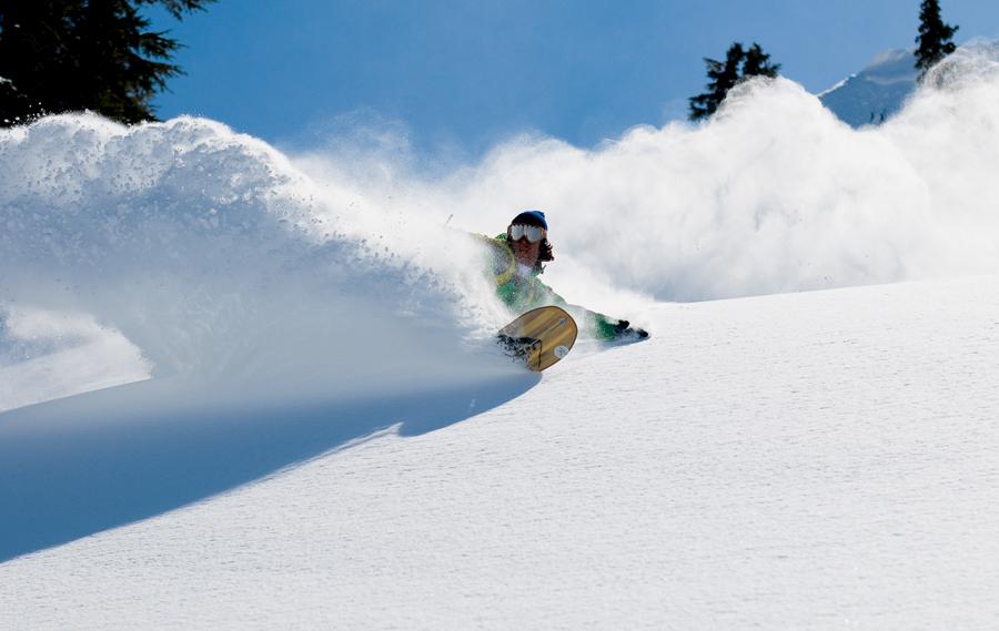 powder boarding