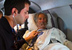 jon Turk on stretcher