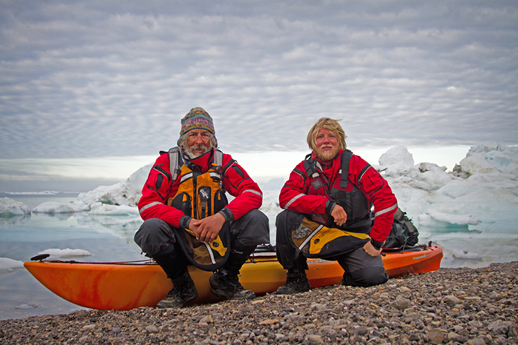Erik Boomer and Jon Turk on the Ellesmere Expedition.