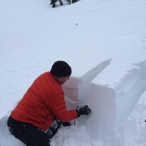 Snow pit