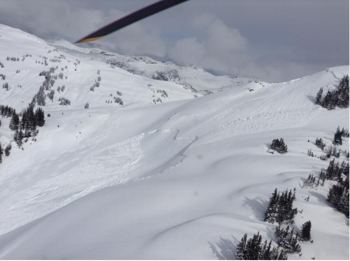 Remote avalanches triggered by skiers nearby.