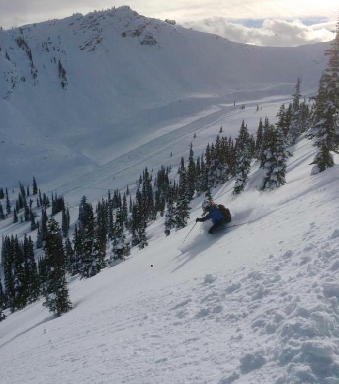 Kicking horse powder skiing