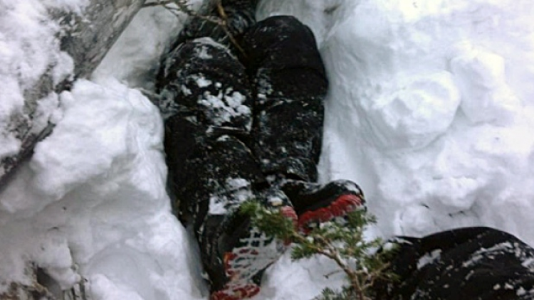 Buried alive in powder