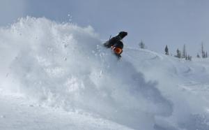 Castle mountain powder boarding
