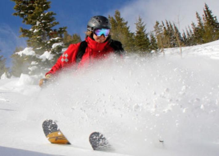 Castle powder skiing