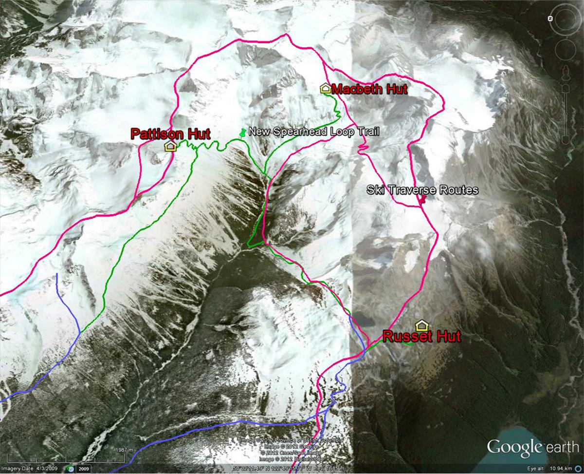 Spearhead traverse map
