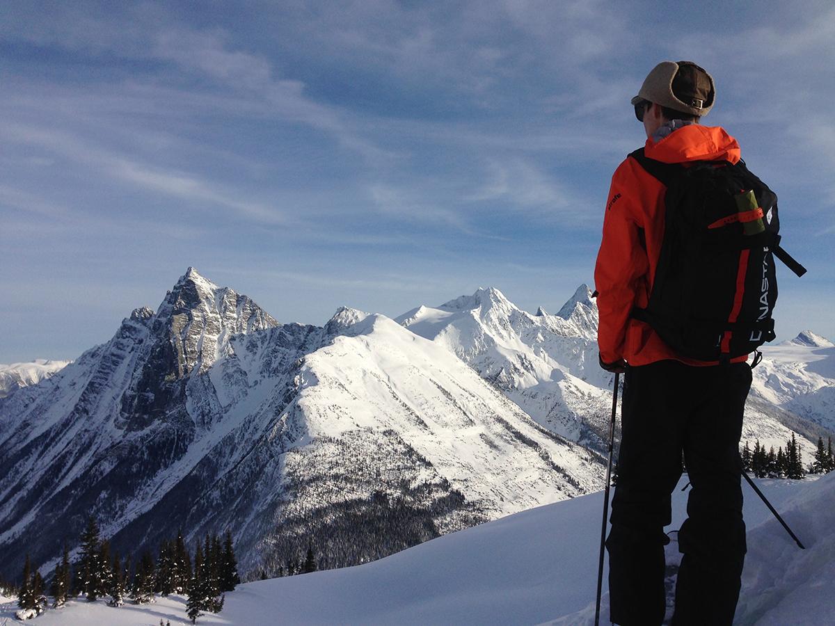 Mt Revelstoke skier