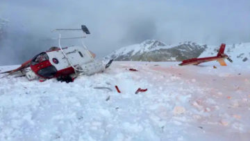 Heli Skiers & Boarders escape serious injury